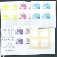 St Vincent Grenadines 1988 75c Explorer Bering & Ship On Ice 6 X Imperforate Colour Separation Proofs Blocks 4 MNH - St.Vincent & Grenadines