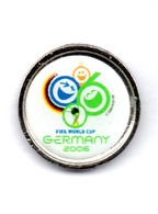 Football, Soccer, Calcio, Germany 2006 World Soccer Cup, Logo Pin - Football