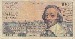 Billet 1000 F Richelieu Du 1-9-1955 FAY 42.15 Alph. L.185 - 1871-1952 Circulated During XXth