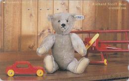 TC Japon / 110-196651 - Jouet  - Série 3/8 - STEIFF TEDDY BEAR - OURS NOUNOURS * GERMANY Rel. ** Japan Phonecard - 752 - Games