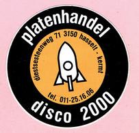 Sticker - Platenhandel Disco 2000 - Diestsesteenweg Hasselt Kermt - Autocollants