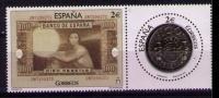 ESPAÑA 2015 - NUMISMATICA - BILLETE Y MONEDA DE 100 PESETAS - 2 SELLOS SE-TENANT - EDIFIL Nº 5010-5011 - Monedas