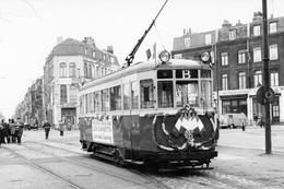Lille. Porte De Béthune. Tramways Ligne B. Cliché Jacques Bazin. 29-01-1966-Suppression Des Tramways - Tramways