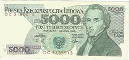 Polonia - Poland 5.000 Zlotych 12-12-1988 Pk 150 C Ref 9 - Polonia