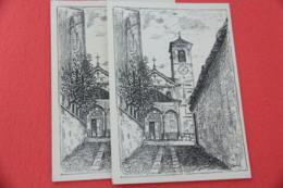 VCO Mergozzo La Chiesa Di Bracchio 1956 Due Vedute - Verbania