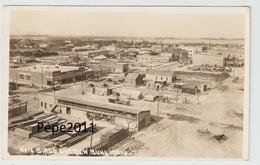 Carte Photo IDAHO US -  Birds Eye View - BUHL In 1919 - Shops - Wagons - Sawmill - ( Unusual) - Etats-Unis
