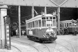 Lille. Dépôt De La Rue Auber. Tramways Ligne B. Cliché Jacques Bazin. 29-01-1966. Suppression Des Tramways. - Tramways