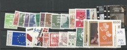 1989 MNH Denmark, Dänemark, Year Complete, Postfris - Danimarca