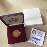 M/EC29 50 ECU 1996 Albert II *QP* Quality Proof - 50 Ans UNICEF - OR Avec ECRIN + Certificat - 1993-...: Albert II