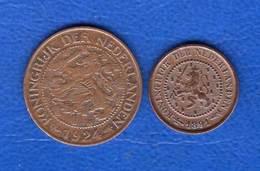 Pays  Bas  Cents  1924  +1/2  Cents  1891 - 1 Cent