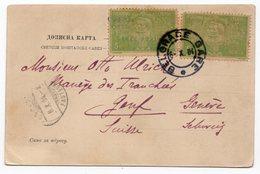 1904, SERBIA, BELGRADE TO GENEVA, POSTMARK BELGRADE GARE-RAILWAY STATION - Serbia