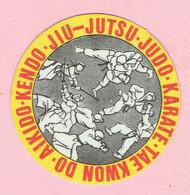 Sticker - JIU JUTSU-JUDO-KARATE-TAE KWON DO-AIKIDO-KENDO - Autocollants