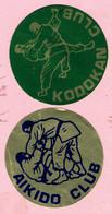 Sticker - AIKIDO CLUB + KODOKAN CLUB - Autocollants