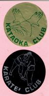 Sticker - KATAOKA CLUB + KARATE CLUB - Autocollants