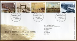 2002 Bridges Of London Set FDC Tallents House - 2001-2010 Decimal Issues