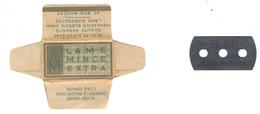 Lame De Rasoir Française BM AU BON MARCHE - BM Safety Razor Blade Wrapper - Rasierklingen
