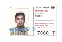BIGL--00059-- LONDON TRANSPORT-PHOTOCARD - Season Ticket