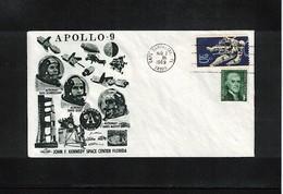 USA Space / Raumfahrt 1969 Apollo 9 Interesting Cover - Estados Unidos