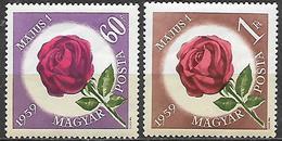 UNGHERIA 1959 PRIMO MAGGIO YVERT. 1276-1277 MNH XF - Usati