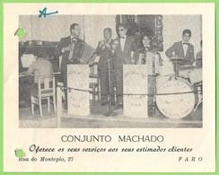 Faro - CARTÃO Do Conjunto Machado - Música - Artista (c/ Furos) - Faro