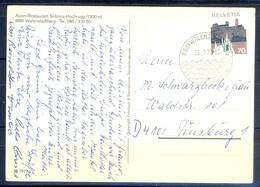K1034- Postal Used Post Card. Post From Helvetia  Switzerland. Alpen Restaurant Schrina Hochrugg. - Switzerland