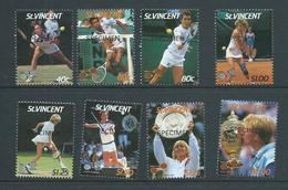 St Vincent 1987 Wimbledon Tennis Set 8 Specimen Overprint MNH Becker Navratilova Lendl Graf - St.Vincent (1979-...)