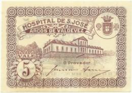 ARCOS DE VALDEVEZ - CÉDULA De 5 CENTAVOS - M.A. 249 - UNC. - ND - PORTUGAL - EMERGENCY PAPER MONEY - NOTGELD - Portugal