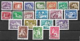 UNGHERIA 1960-61 SERIE ORDINARIA CASTELLI YVERT. 1335-1344 USATA VF - Usati