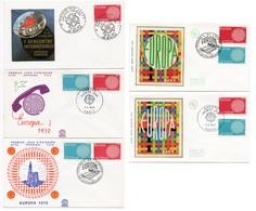 FDC France 1970 - Europa 1970 - YT 1637 Et 1638 - Paris Et Strasbourg - FDC