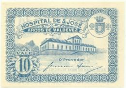 ARCOS DE VALDEVEZ - CÉDULA De 10 CENTAVOS - M.A. 250 - UNC. - ND - PORTUGAL - EMERGENCY PAPER MONEY - NOTGELD - Portugal