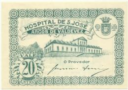 ARCOS DE VALDEVEZ - CÉDULA De 20 CENTAVOS - M.A. 251 - UNC. - ND - PORTUGAL - EMERGENCY PAPER MONEY - NOTGELD - Portugal