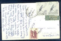 K1074- Postal Used Post Card. Post From Jugoslavija Yugoslavia To Pakistan. Ship. Biro Za Turist. - Yugoslavia