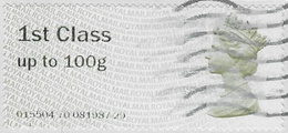 GB SG FS1 2008 Faststamp 1st Code 015504 Used [32/207/25D] - Post & Go Stamps