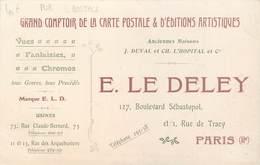 """CPA PUBLICITE CARTE POSTALE """"Comptoir De La Carte Postale, E. LE DELEY, Paris"""" - Publicité"""