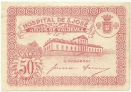 ARCOS DE VALDEVEZ - CÉDULA De 50 CENTAVOS - M.A. 253 - AUNC. - ND - PORTUGAL - EMERGENCY PAPER MONEY - NOTGELD - Portugal