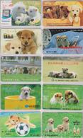 LOT 4 - 10 Télécartes Privées Japon  - ANIMAL - CHIEN - DOG Japan Private Phonecards -HUND Telefonkarten - 1170 - Télécartes