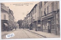CHAMPIGNY- LA GRANDE RUE- LES COMMERCES DONT CAFE DES SPORTS ET LE TABAC- MARCHAND DE CARTES POSTALES - Champigny Sur Marne
