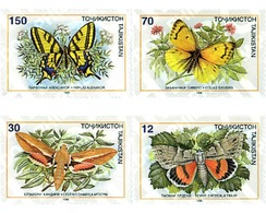 Ref. 95139 * MNH * - TAJIKISTAN. 1998. BUTTERFLIES . MARIPOSAS - Tayikistán