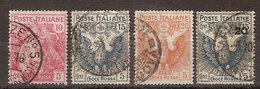"""(Fb).Regno.V.E.III.1915-16.""""Pro Croce Rossa"""".Serie Completa Usata (47-18) - Usati"""
