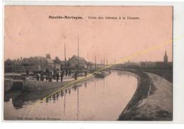 Carte Postale Maulde-mortagne Visite Des Bâteaux à La Douane, Animée, Très Rare...T1 - France