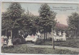 Gruss Aus Michalkowitz O/S Gartenetablissement Zum Deutschen Kaiser .. 1908 Knicke - Schlesien