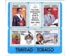 Ref. 185931 * MNH * - TRINIDAD AND TOBAGO. 1986. 75 ANIVERSARIO DEL NACIMIENTO DE ERIC WILLIAMS - Birds