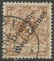 German New Guinea - 1898 Numerals Overprint 3pf Greyish Olive-brown Used  Sc 1 - Colony: German New Guinea