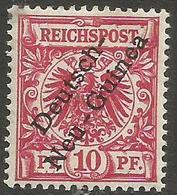 German New Guinea - 1897 German Eagle Overprint 10pf Rose Mint  Lightly Hinged *   Sc 3 - Colony: German New Guinea