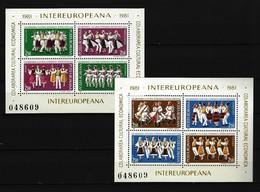RUMÄNIEN - Block Nr. 178 - 179 INTEREUROPA Postfrisch - Blocks & Kleinbögen