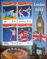 Tajikistan  2012  Olympic  Games London  M/S  Perfor.  MNH - Tajikistan