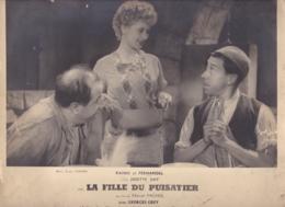 PHOTOGRAPHIE FILM LA FILLE DU PUISATIER RAIMU FERNANDEL ET JOSETTE DAY - Foto