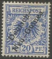 German New Guinea - 1897 German Eagle Overprint 20pf Blue Mint  Lightly Hinged *   Sc 4 - Colony: German New Guinea