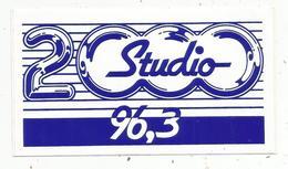 Autocollant ,  RADIO , STUDIO 2000 , 96,3 - Stickers