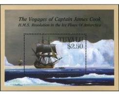 Ref. 213777 * MNH * - TUVALU. 1988. CAPTAIN COOK'S JOURNEYS . VIAJES DEL CAPITAN JAMES COOK - Tuvalu